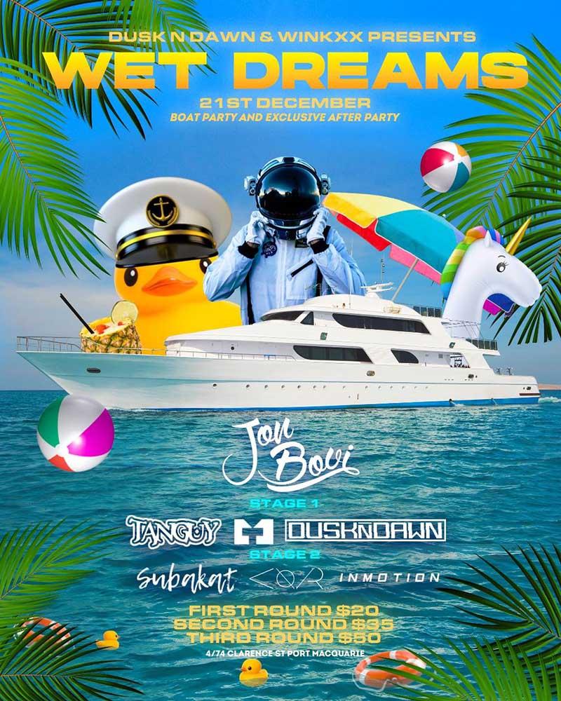 DusknDawn Wet Dreams Cruise Port Macquarie 21 Dec